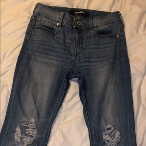 Express jeans. Mid rise. Light blue